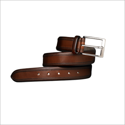 Brown Leather Men's Belt