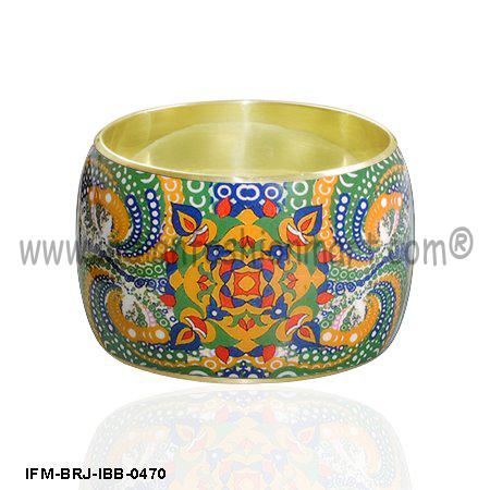 Opulent Rangoli  - Decaling Art Bangle