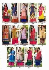 ladies flavour new designer dable layer Work  kurtis