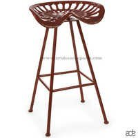 Tractor Seat Bar Stool Four Legs Dark Brown