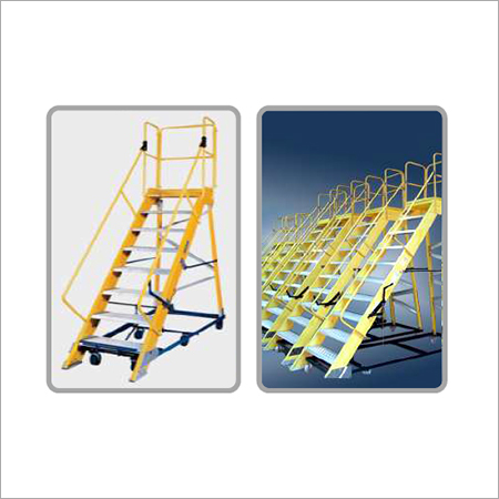 Fiberglass Mobile Platform Ladder