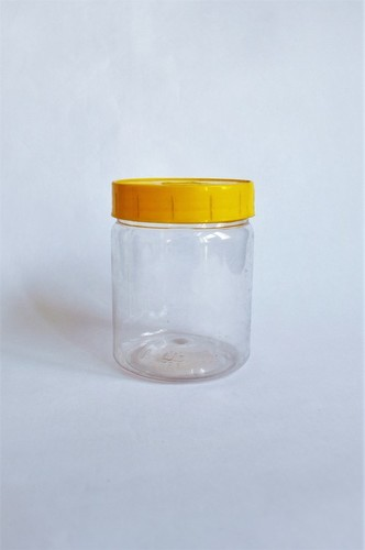 Plastic Jar with Yellow Lid