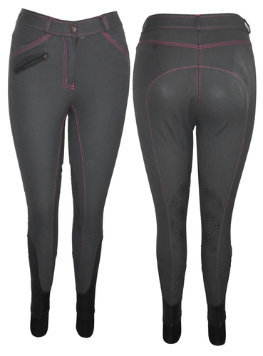 ladies knee silicon grip breech