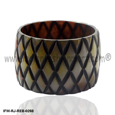 Mosstone Mignon - Resin Bangle