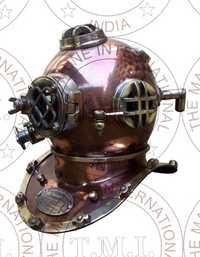 Copper Antique Diving Helmet Mark V