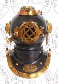 Small Diving Helmet Antique Finish