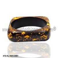 Sunrise  Sprinkle -Resin Bangle
