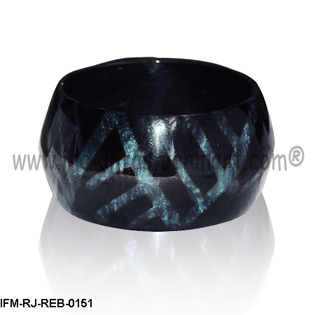 Geo Reflections-Resin bangle