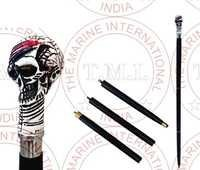 Black & White Pirate Skeleton Walking Stick