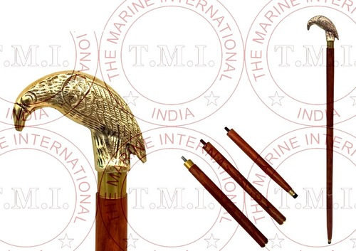 Brass Eagle Head Walking Stick