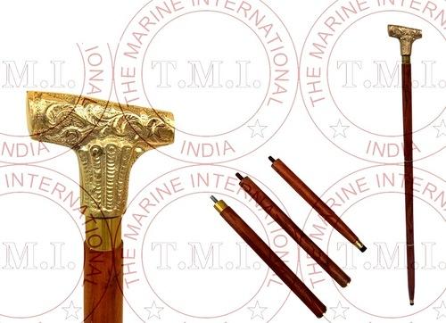 Brass Design Walking Stick