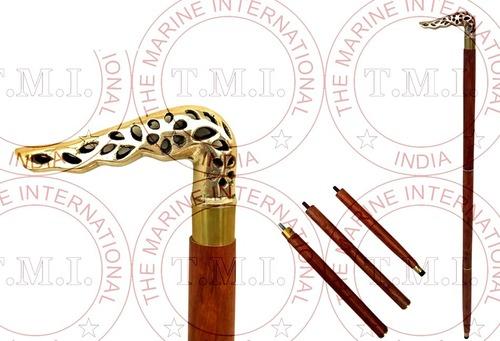 Brass Design Walking Cane Stick