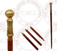 Wooden Walking Stick With Brass handle