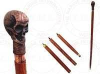 Aluminium Skull Head Walking Stick