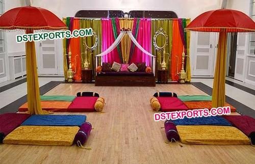Henna Wedding Mehandi Stage Decoration