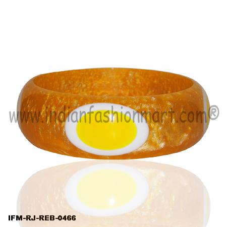 Orange Yolk Fun - Resin Bangle