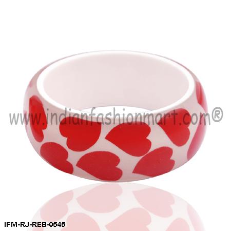Romantic Love  - Resin Bangle