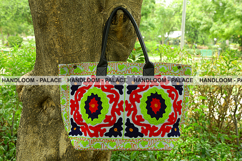 Suzani Embroidered Handbag