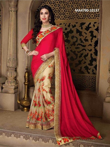 Fancy Lace Work Saree