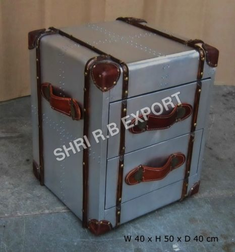 Aviator Bedside Trunk Box