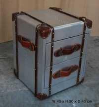 Aviator Bedside Trunk Box