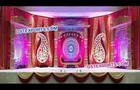 Rajasthani Wedding Stage Golden Decorations