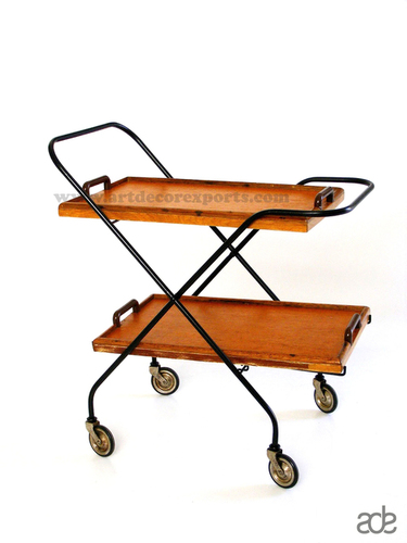 Iron Wooden Trolley