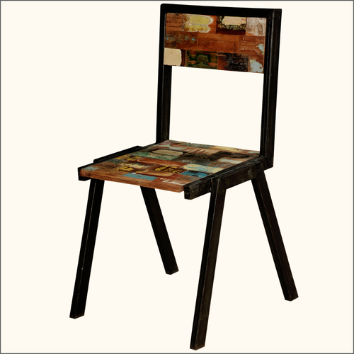 Industrial Reclaimed colour patches trendy chair