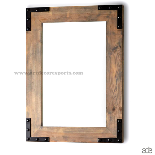 Metal Wood Mirror Frame