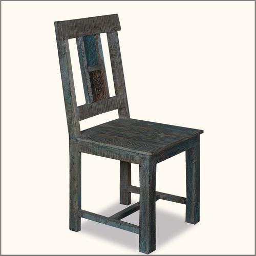 Reclaimed Wood Frozen Blue Chair
