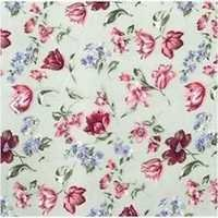 Blue Flowers Printed Georgette Dress Fabric Material