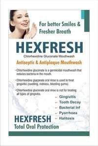 Antiseptic & Antiplaque Mouthwash (Hexfresh)
