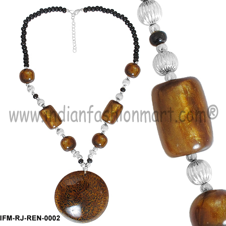 Classic  Propinquity   - Resin Necklace