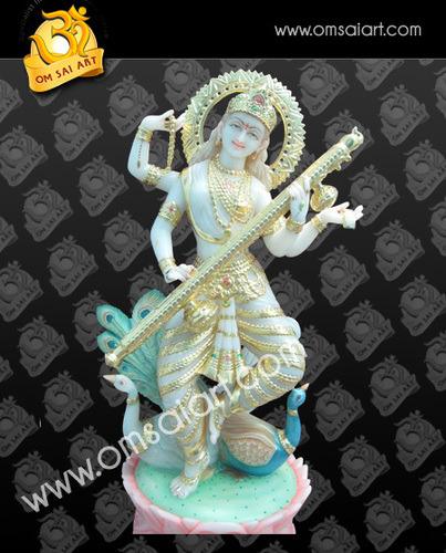 Ma Saraswati Marble Moorti Jaipur
