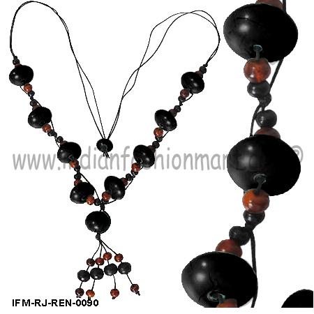 Alpine Ebony - Resin Necklace