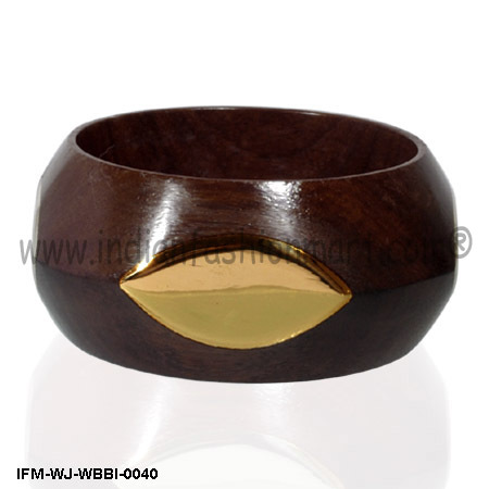 Golden Eye - Wooden Bangle