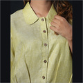 Linen Mehandi Green Shirt