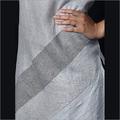 Linen White Grey Kurti