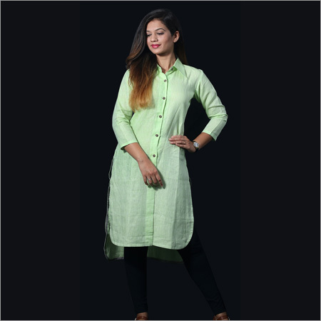 Linen Florescent Long Shirt Tunic