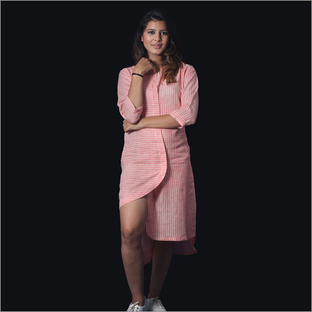 Linen Pink Lining Tunic