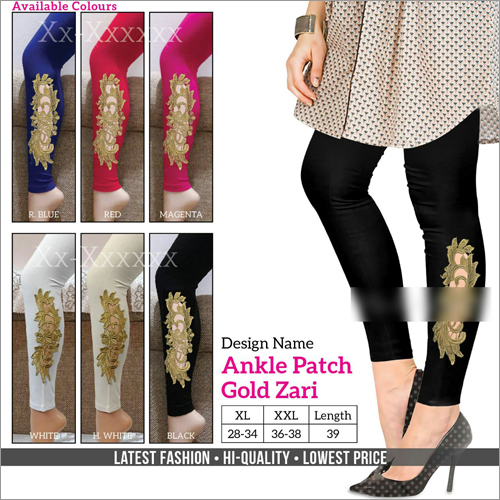 Ankle Patch Gold Zari