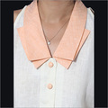 Linen Cream Peach Collar Shirt