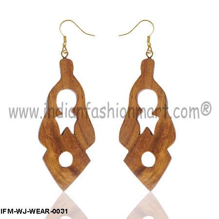 Love Bohemia  -  Wooden Ear Rings