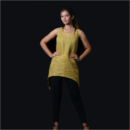 Linen Yellow Backless Top