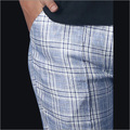 Linen White And Blue Checks Pant