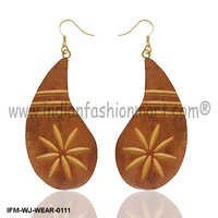 Jubilant  Zulu - Wooden Earrings