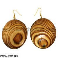 Prayer Ramble -Wooden Earring