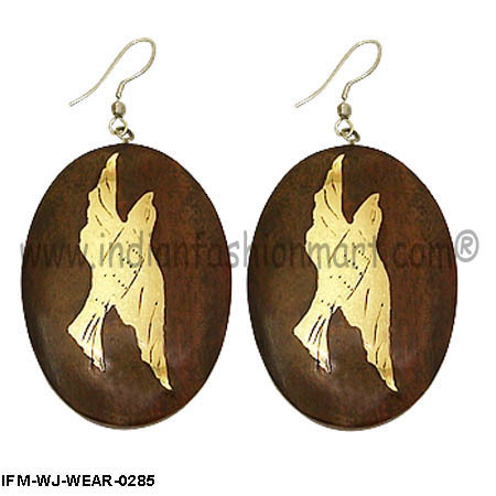 Exotica Ascent   - Wooden Earring