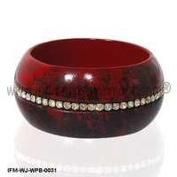 Bombshell Sparkle Drive -Wooden Bangle