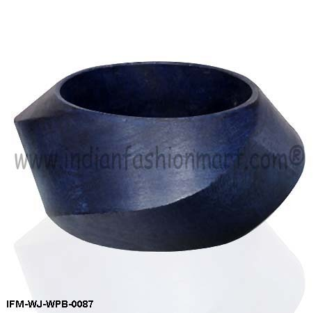 Allure  in Curves - Wooden Bangle